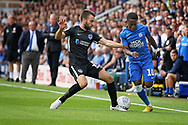 Peterborough United midfielder Siriki Dembele (10) attempts a run down the wing during the EFL Sky Bet League 1 match between Peterborough United and Portsmouth at London Road, Peterborough, England on 15 September 2018.