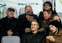 Tone Vogrinec, ... , Bojan Krizaj ahead to the football match between National teams of Slovenia and England in Round #3 of FIFA World Cup Russia 2018 Qualifier Group F, on October 11, 2016 in SRC Stozice, Ljubljana, Slovenia. Photo by Vid Ponikvar / Sportida