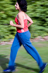 Young woman jogging in the park,