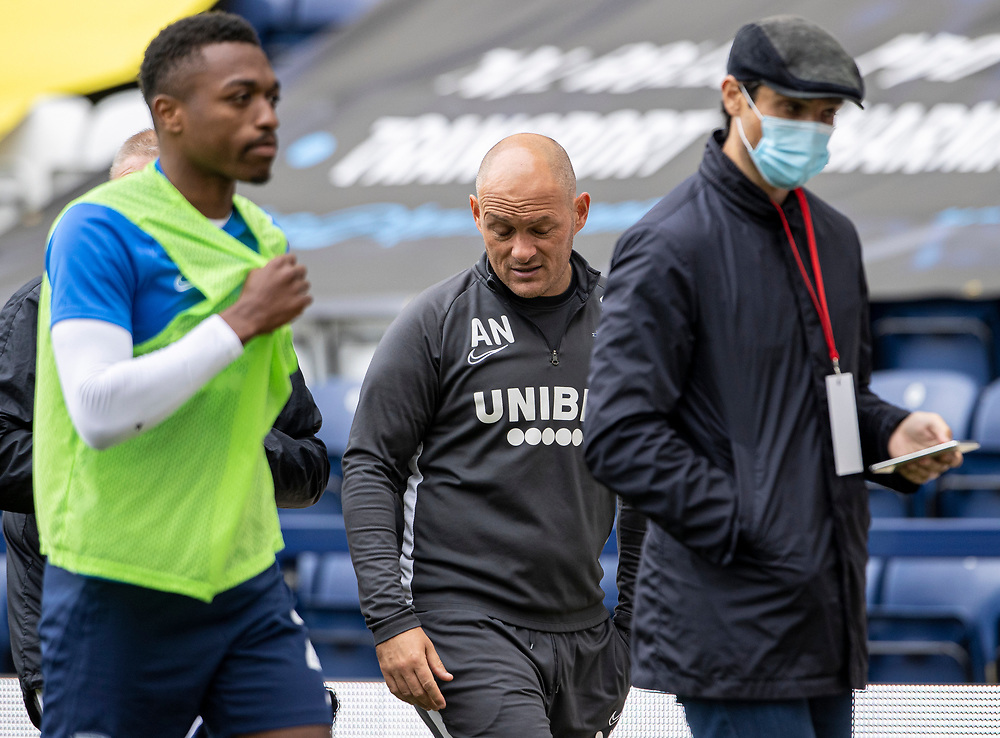 Preston North End's manager Alex Neil (centre) at the end of the match<br /> <br /> Photographer Andrew Kearns/CameraSport<br /> <br /> The EFL Sky Bet Championship - Preston North End v Nottingham Forest - Saturday 11th July 2020 - Deepdale Stadium - Preston <br /> <br /> World Copyright © 2020 CameraSport. All rights reserved. 43 Linden Ave. Countesthorpe. Leicester. England. LE8 5PG - Tel: +44 (0) 116 277 4147 - admin@camerasport.com - www.camerasport.com