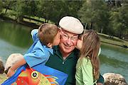 Grandfather And Grandkids At William Mason Regional Park