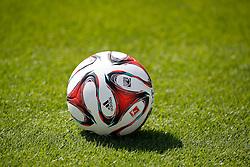 07.07.2014, BayArena, Leverkusen, GER, 1. FBL, Bayer 04 Leverkusen, Training, im Bild Adidas Fussball der Saison 2014/15 // during a Trainingssession of German Bundesliga Club Bayer 04 Leverkusen at the BayArena in Leverkusen, Germany on 2014/07/07. EXPA Pictures © 2014, PhotoCredit: EXPA/ Eibner-Pressefoto/ Schueler<br /> <br /> *****ATTENTION - OUT of GER*****
