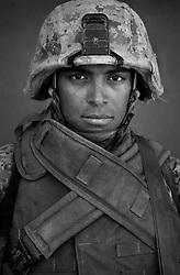 PFC Salvador Guzman, 19, Crystal Lake, Illinois, 3rd Platoon, Kilo Co., 3rd Battalion 1st Marines, 1st Marine Division, United States Marine Corps, at the company's firm base in Haditha, Iraq on Sunday Oct. 22, 2005.