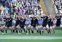 Rome, Italy -In the photo Haka All Blacks  during .Olympic stadium in Rome Rugby test match Cariparma.Italy vs New Zealand (All Blacks). (Credit Image: © Gilberto Carbonari).