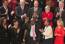 Jamiel Shaw, Sr. stands after being recognized during the address by United States President Donald Trump to a joint session of Congress on Capitol Hill in Washington, DC, USA, February 28, 2017. Photo by Chris Kleponis/CNP/ABACAPRESS.COM