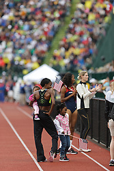 Olympic Trials Eugene 2012: Chaunte Lowe, high jump champion, victory lap
