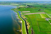 Nederland, Friesland, Súdwest-Fryslân, 07-05-2018; <br /> Polder C Draaijer en Dijkvaart, ten Noorden van Stavoren, ter hoogte van Molkwerum, Kust IJsselmeer.<br /> <br /> luchtfoto (toeslag op standard tarieven);<br /> aerial photo (additional fee required);<br /> copyright foto/photo Siebe Swart