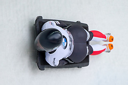 20.02.2016, Olympiaeisbahn Igls, Innsbruck, AUT, FIBT WM, Bob und Skeleton, Damen, Skeleton, 3. Lauf, im Bild Carina Mair (AUT) // Carina Mair of Austria competes during women Skeleton 3rd run of FIBT Bobsleigh and Skeleton World Championships at the Olympiaeisbahn Igls in Innsbruck, Austria on 2016/02/20. EXPA Pictures © 2016, PhotoCredit: EXPA/ Johann Groder