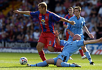 Photo: Olly Greenwood.<br />Crystal Palace v Coventry City. Coca Cola Championship. 23/09/2006. Palace's James Scowcroft and Coventry's Robert Page.