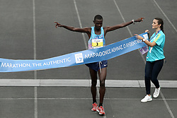 November 12, 2017 - Athens, Attica , Greece - The winner, Samuel Kalalei of Kenya at the finish line of the 35th Athens Classic Marathon, at the Panathenaic stadium in Athens, Greece, on Sunday November 12, 2017  (Credit Image: © Panayotis Tzamaros/NurPhoto via ZUMA Press)