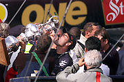 Russel Coutts with the America's Cup 2000