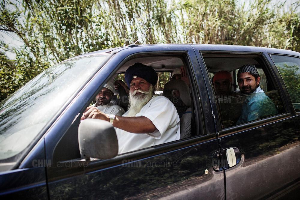 Indiani sikh, Sabaudia (Latina), Giugno 2014.  Christian Mantuano / OneShot