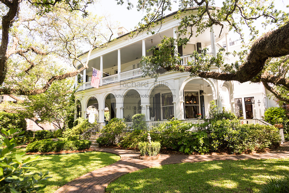 Queen Anne style home now Two Meeting Street Inn  in historic Charleston, SC.