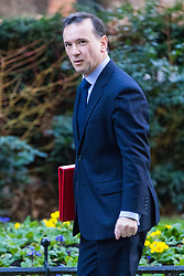London, January 16 2018. Secretary of State for Wales Alun Cairns attends the UK cabinet meeting at Downing Street. © Paul Davey