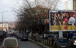 PRISTINA, KOSOVO - DECEMBER 14 - Gneca na cesti zaradi nedelovanja semaforjev zaradi redukcije (srbske) elektrike.