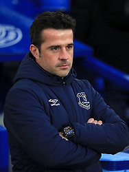 Everton manager Marco Silva looks on during the Premier League match at Goodison Park, Liverpool.