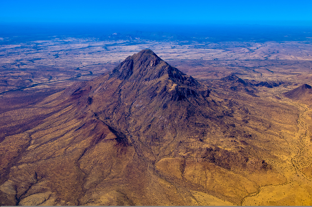 Aerial view of the Namib Desert, Namibia