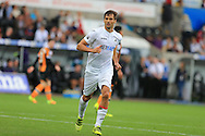 Fernando Llorente of Swansea city looks on..  Premier league match, Swansea city v Hull city at the Liberty Stadium in Swansea, South Wales on Saturday 20th August 2016.<br /> pic by Andrew Orchard, Andrew Orchard sports photography.