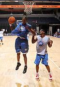 1/2G Matt Pressey (Ashburnham, MA / Cushing Academy) gets the rebound during the NBA Top 100 Camp held Thursday June 21, 2007 at the John Paul Jones arena in Charlottesville, Va. (Photo/Andrew Shurtleff)