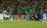 Photo: Steve Bond/Richard Lane Photography.<br />Ghana v Cameroon. Africa Cup of Nations. 07/02/2008. Alain Nkong (C) scores for Cameroon