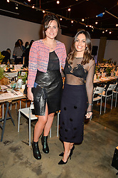 Left to right, EMER KENNY and OLIVIA WAYNE at the Smashbox Influencer Dinner hosted by Lauren Laverne held at Carousel, 71 Blandford Street, London on 21st January 2016.