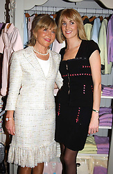 Left to right, ROSIE, MARCHIONESS OF NORTHAMPTON and her daugher LADY EMILY COMPTON at a party to celebrate the opening of children's store Chippi Hacki at 8 Motcomb Street, London, SW1 on 24th November 2004.<br />