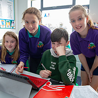 Knockanean NS Students  Ailis Ni Choireain, Emma Keane, Oisin O'Donohue Eabha O'Driscoll working on their Jessies Project
