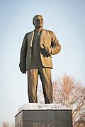 Lenin monument on Lenin Square in Komsomolsk-on-Amur, Siberia, Russia
