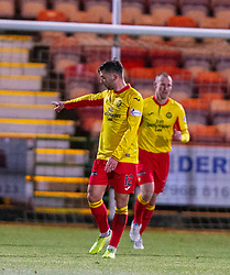 Partick Thistle's Reece Cole cele scoring their goal. Dunfermline 5 v 1 Partick Thistle, Scottish Championship game played 30/11/2019 at Dunfermline's home ground, East End Park.