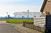 Nederland, Kekerdom, 14-2-2020Landschap in de polder met een huis aan de rand van het dorp .Foto: Flip Franssen