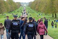 people out in Windsor after The Duke of Edinburgh died, aged 99, Windsor Castle, Windsor, Berkshire, UK.photo byMark Anton Smith