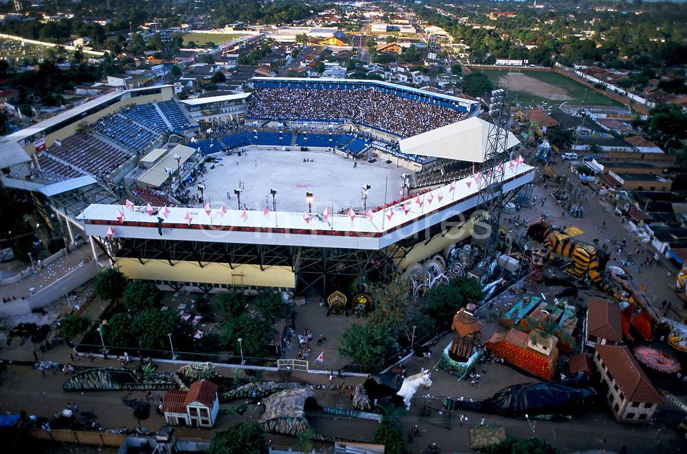 The stadium also known as the Bumbodromo, is the location which serves to celebrate the annual Boi Bumba carnival. The carnival serves to celebrate and re-enact Indian traditions and perpetuate myths and legends. It has evolved over time and involves the battle between to opposing bulls, known as Garantido and Caprichoso.