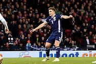 Scotland forward James Forrest (7) (Celtic) scores the equalising goal 1-1  during the UEFA Nations League match between Scotland and Israel at Hampden Park, Glasgow, United Kingdom on 20 November 2018.