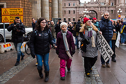 March 15, 2019 - Stockholm, Sverige - 190315 Greta Thunberg during a School Strike for the Climate on Mars 15, 2019 in Stockholm  (Credit Image: © Maxim Thor/Bildbyran via ZUMA Press)
