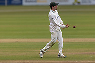 Sam Evans during Day 2 of the LV= Insurance County Championship match between Leicestershire County Cricket Club and Hampshire County Cricket Club at the Uptonsteel County Ground, Leicester, United Kingdom on 9 April 2021.