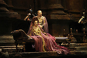 Florida Grand Opera 2003 production of Richard Strauss Salome with Allan Glassman as Herod and Janice Meyerson as Herodias at the Miami Dade County Auditorium in Miami. (El Nuevo Herald Photo/Gaston De Cardenas)(El Nuevo Herald Photo/Gaston De Cardenas)