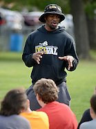 Rasheed Bailey Works Out With Lenape Middle School Football Team