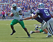 Marshall running back Chubb Small (28) rushes up field against pressure from Kansas State defenders, at Bill Snyder Family Stadium in Manhattan, Kansas, September 16, 2006.  The Wildcats beat the Thundering Herd 23-7.