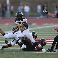 Del Mar #32 Isaac Black vs Westmont in a BVAL Football Game at Westmont High School, Campbell CA on 9/7/18. (Photograph by Bill Gerth)