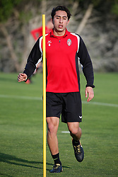 January 6, 2018 - Cadiz, SPAIN - Mouscron's Omar Govea pictured during the first day of the winter training camp of Belgian first division soccer team Royal Excel Mouscron, in Cadiz, Spain, Saturday 06 January 2018. BELGA PHOTO BRUNO FAHY (Credit Image: © Bruno Fahy/Belga via ZUMA Press)