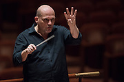 Jaap van Zweden leads rehearsal with the Dallas Symphony Orchestra in Dallas, Texas on February 10, 2017. (Cooper Neill for Quote)