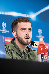 November 21, 2017 - Turin, Piemonte/Torinno, Italy - Miralem Pjani? during the Juventus FC press conference before the Champions League Match Juventus FC vs Futbol Club Barcelona at Juventus Stadium in Turin, Italy 21th november 2017. (Credit Image: © Alberto Gandolfo/Pacific Press via ZUMA Wire)
