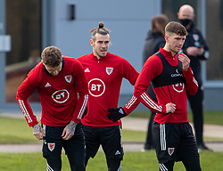 CARDIFF, WALES - Tuesday, March 23, 2021: Wales' captain Gareth Bale (C) during a training session at the Vale Resort ahead of the FIFA World Cup Qatar 2022 Qualifying game against Belgium. (Pic by David Rawcliffe/Propaganda)