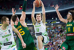 Zoran Dragic of Slovenia during friendly basketball match between National Teams of Slovenia and Brasil at Day 2 of Telemach Tournament on August 22, 2014 in Arena Stozice, Ljubljana, Slovenia. Photo by Vid Ponikvar / Sportida
