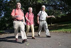 Older People walking in the park; Nottingham,
