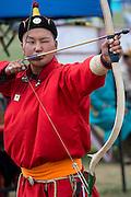 Mongolia, Danshig Naadam Fesival, archery competition