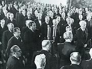 Members of the Bundesraat or Parliament of West Germany in 1950.