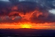 Cloud Formation over Shoshone Range, Lander County, Nevada