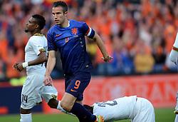 31-05-2014 NED: Vriendschappelijk Nederland - Ghana, Rotterdam<br /> Nederland wint met 1-0 van Ghana /  Robin van Persie scoort de 1-0