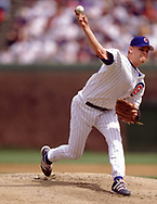 CHICAGO - 1998:  Kerry Wood of the Chicago Cubs pitches during an MLB game at Wrigley Field in Chicago, Illinois during the 1998 season. (Photo by Ron Vesely) Subject:   Kerry Wood
